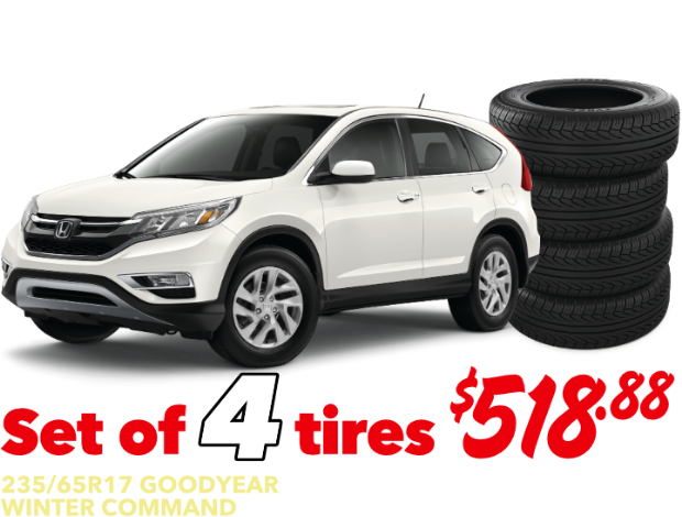 Set of 4 tires - CR-V - $518.88 Installed