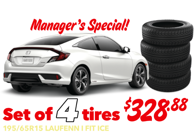 Civic Manager's Special - Civic - Set of 4 tires - $328.88 Installed