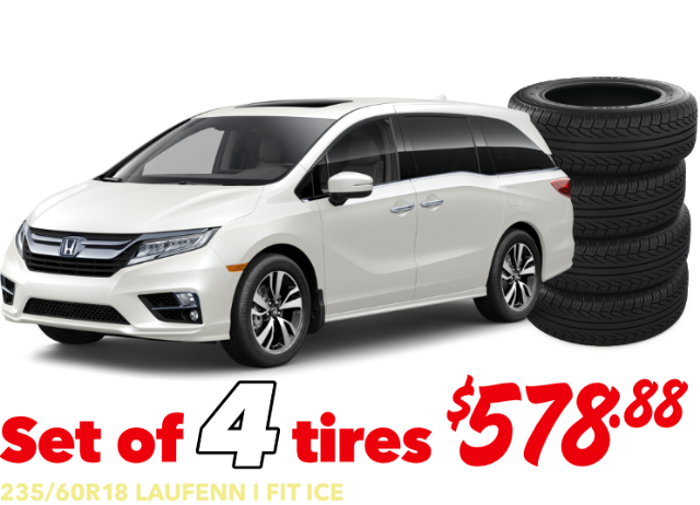 Set of 4 tires - Odessey- $578.88 Installed