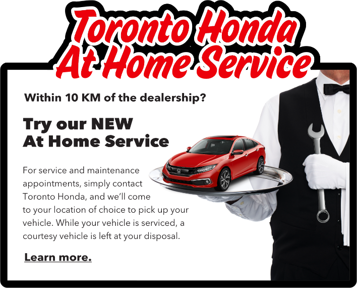 Toronto Honda at Home Service
