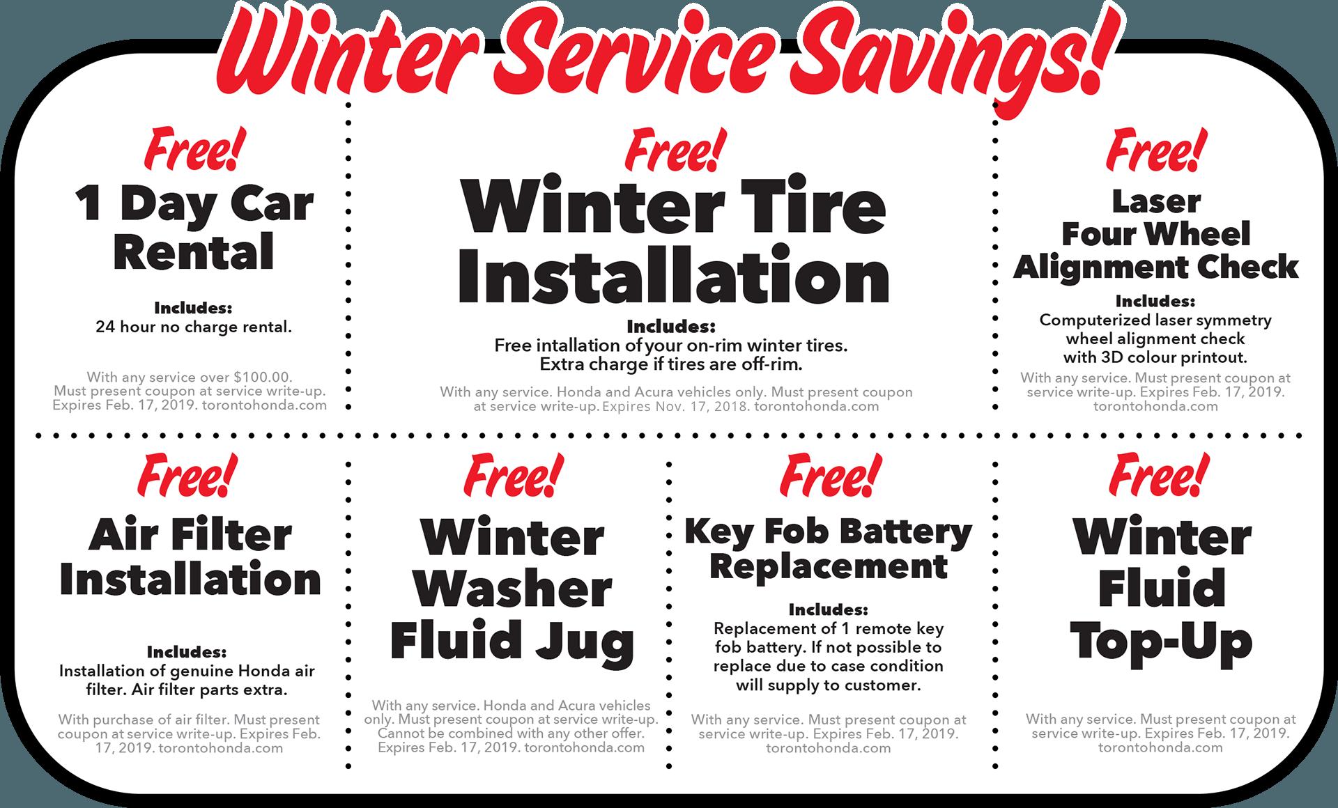 Winter Service Savings!