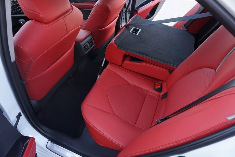 The Camry's back seats aren't as roomy as the Accord's.