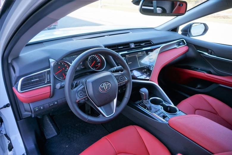 The boldly styled dashboard may scare Camry traditionalists.